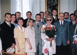 Irene Kirkland and the Speaker of Parliament, Marek Borowski meet participants of the Lane Kirkland Scholarship Program