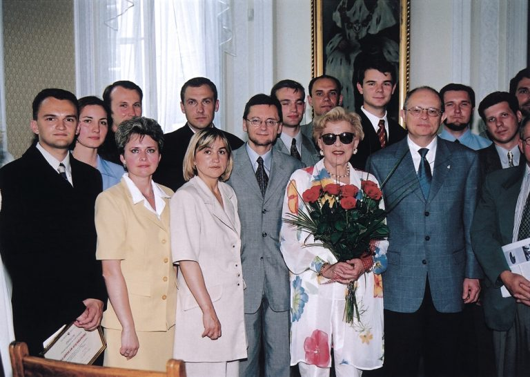 Conclusion of the second edition of the Lane Kirkland Scholarship Program with the participation of Irene Kirkland and the Speaker of Parliament, Marek Borowski