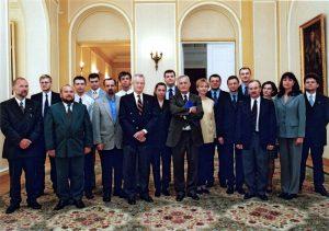 Prof. Zbigniew Brzeziński meets participants of the Lane Kirkland Scholarship Program