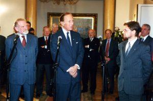 Minister Bronisław Geremek, John P. Birkelund, Jerzy Koźmiński