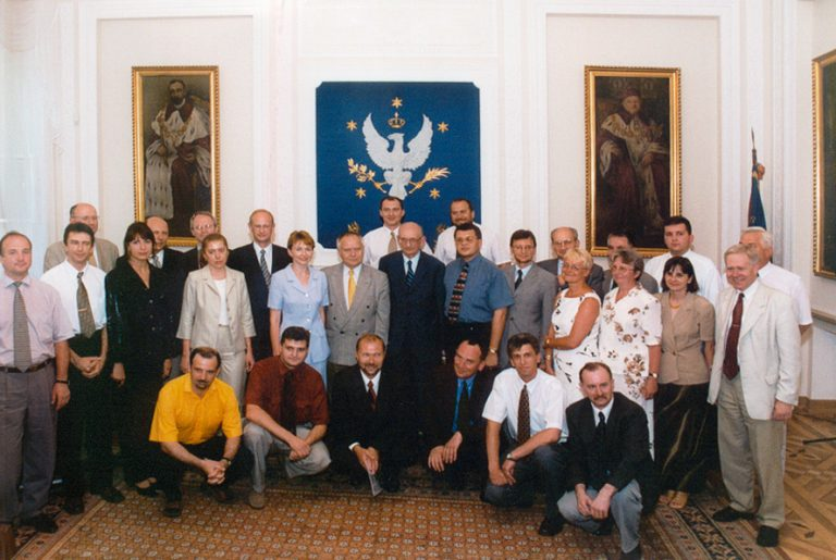 Prof. Władysław Bartoszewski is a guest at the finale of the first edition