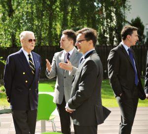 Prof. Zbigniew Brzeziński, Radosław Jasiński, Grzegorz Jędrys, Ambassador Lee Feinstein