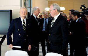 Prof. Zbigniew Brzeziński, John P. Birkelund, Joseph C. Bell, Christopher Hill, Ambassador Lee Feinstein, Jerzy Koźmiński