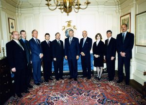 Representatives of the Foundation and the Polish-American Enterprise Fund are received by U.S. Secretary of State Colin Powell.