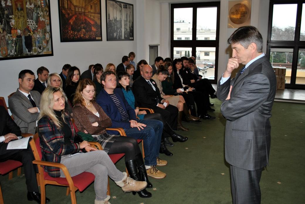 Meeting with Vice Marshal Marek Kuchciński
