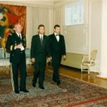 General John Shalikashvili, Ambassador Jerzy Koźmiński, Mariusz Handzlik – Embassy of the Republic of Poland in Washington, 1995