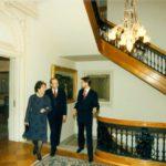 Secretary of Defense William Perry, Mrs. Perry, Ambassador Jerzy Koźmiński – Embassy of the Republic of Poland in Washington, 1996