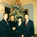 Senator William Cohen, Mrs. Cohen, Irena Koźmińska, Ambassador Jerzy Koźmiński – Embassy of the Republic of Poland in Washington, 1996