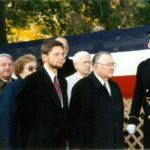 President of the Polish American Congress Edward Moskal, Ambassador Jerzy Koźmiński – Arlington, 1995