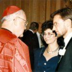 Cardinal James Hickey, Irena Koźminska, Ambassador Jerzy Koźmiński – Washington, 1996