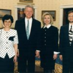 President Bill Clinton, Hilary Clinton, Irena Koźmińska, Ambassador Jerzy Koźmiński – White House, Washington, 1994