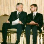 Prime Minister Jerzy Buzek, Ambassador Jerzy Kozminski – Atlanta, 1998