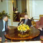 President Aleksander Kwaśniewski, Professor Zbigniew Brzeziński, Ambassador Jerzy Koźmiński – Presidential Palace, Warsaw, 2000