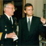 General John Shalikashvili, Ambassador Jerzy Koźmiński – Embassy of the Republic of Poland in Washington, 1995