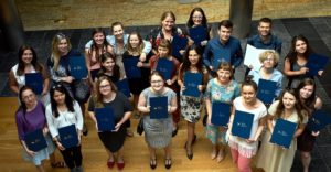 Graduates of the third course at the School of Education received diplomas