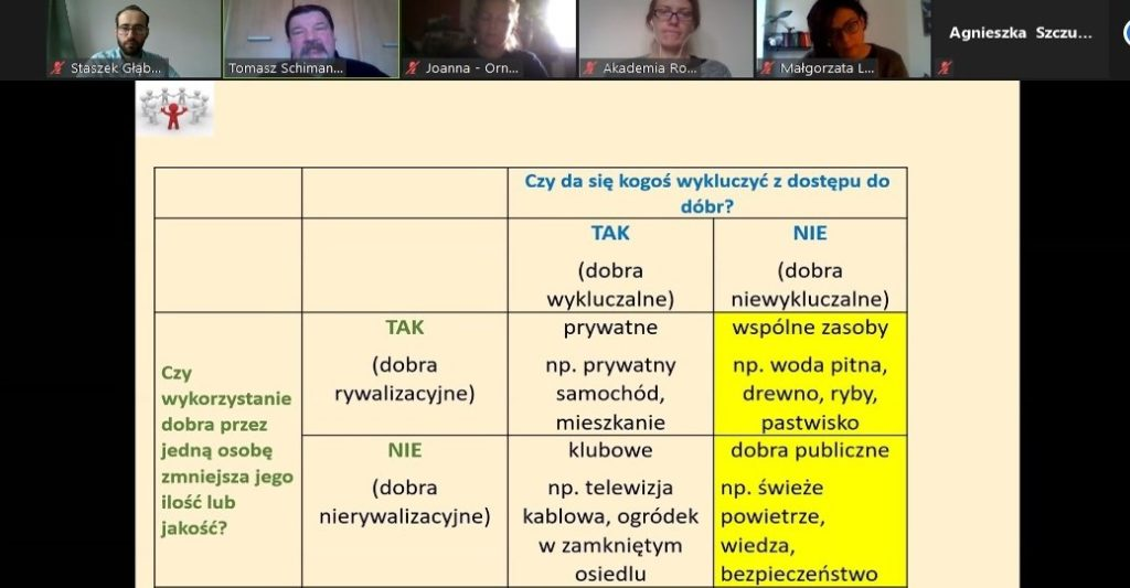 Online workshops on common good