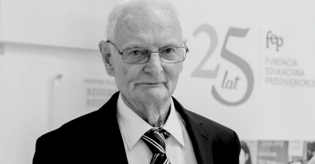 We say good bye to Professor Jerzy Dietl